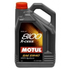 Huile Motul 8100 X-cess, SAE 5w40, 100 % synthétique, 5 litres