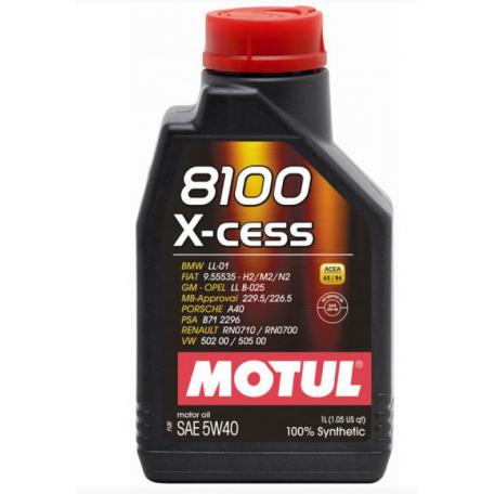 Huile Motul 8100 X-cess, SAE 5w40, 100 % synthétique, 1 litre