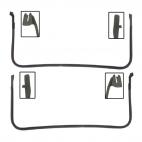 Joint d'étanchéité de portes Mustang 69 à 70