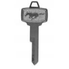 """Clé de contac/porte vierge avec logo """"Pony"""" pour Mustang de 65 et 66"""