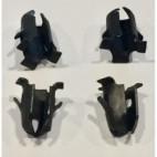 Lot de 4 fixations pour emblème d'ailes, Mustang 64 à 71