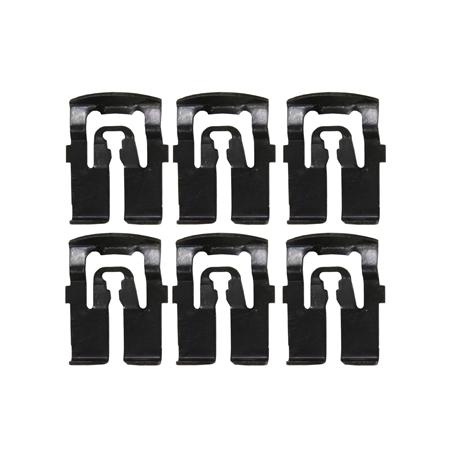Kit de 6 agrafes de moulure de lunette arrière Mustang 67 et 68