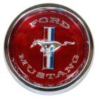 Centre de roue rouge pour jante rally Mustang 64 à 66