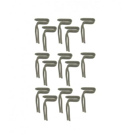 Clips de fixation de panneaux de portes (15 pièces), Mustang 64 à 73
