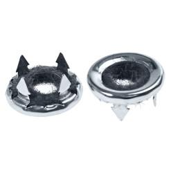 Bagues chromées de boutons de verrouillage intérieur de porte (paire), Mustang 69 à 73