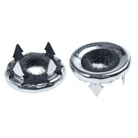 Bagues chromées de boutons de verrouillage intérieur de porte (paire), Mustang 65 à 73