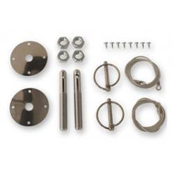 Kit de fixation de capot par câble, Mustang 64 à 73