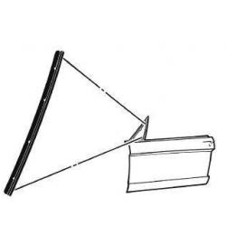 Joint vertical de fenêtre de ventilation avec rivet, Mustang 64 à 66