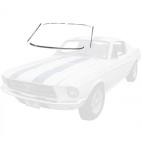 Kit de moulures chromées d'entourage de pare brise, Mustang Fastback et Coupé de 65 à 68