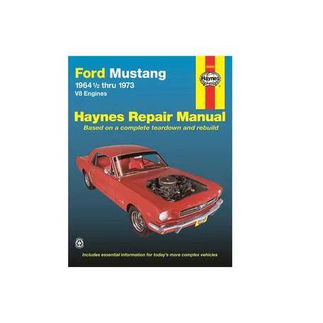 Manuel de réparation pour Mustang V8 de 64 à 73