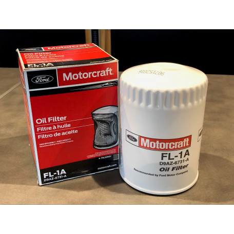 Filtre à huile Motorcraft, Mustang V8 et L6, 1964 à 1973