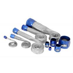 Kit de gaines en Inox avec raccord bleus pour toutes durites d'eau, Mustang V8 de 64 à 73