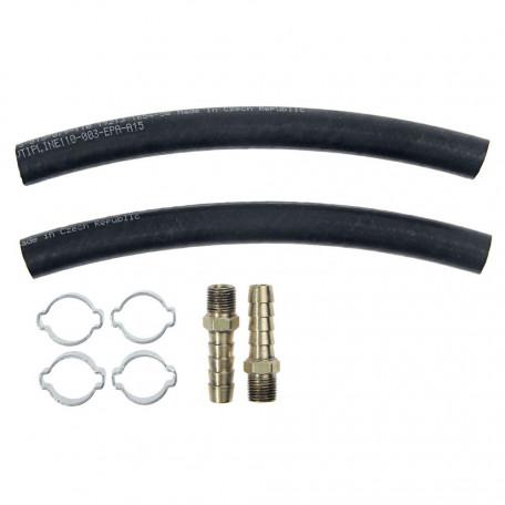 Raccords souples de ligne de refroidissement sur radiateur, boite C4, Mustang 64-65