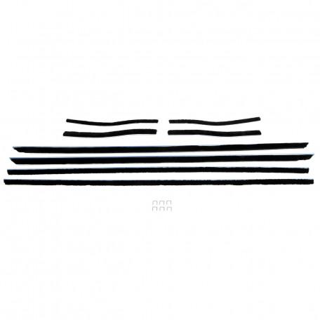 Kit de joints lèche-vitres, 8 pièces, Mustang Cabriolet 67 à 68