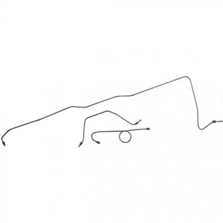 Tubes rigides de freins avant, tambours avec assistance, Mustang 65