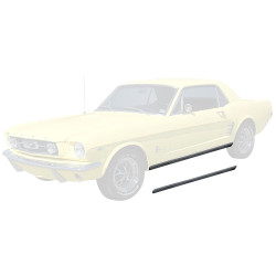 Moulure de bas de caisse – paire - + clips, Mustang 1964-66