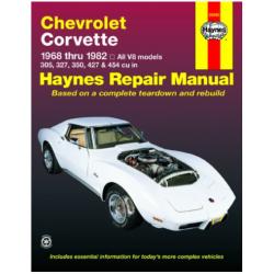 Manuel de réparation, Corvette 1968 à 1982 touts modèles