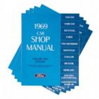 Manuel technique  en 4 volumes, pour Mustang 1969