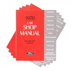 Manuel technique en 4 volumes, pour Mustang 1970