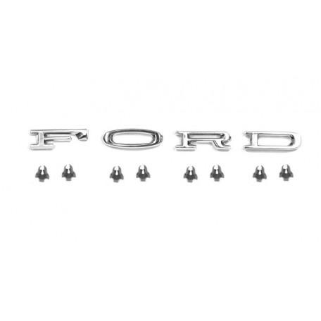 Kit de lettres F.O.R.D de capot, Mustang 64, à 66