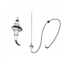 Antenne radio chromée (base rondes), Mustang 65 à 68