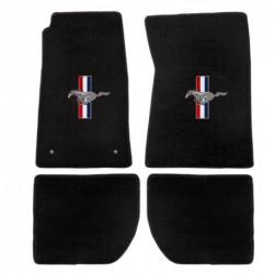 Kit de 4 tapis noirs, Mustang 65 à 73