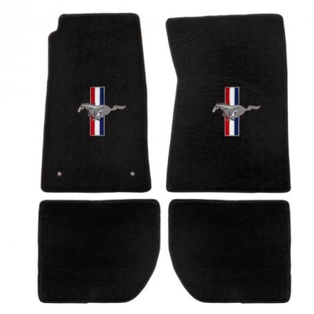 Kit de 4 tapis de sol noirs, Mustang 65 à 73