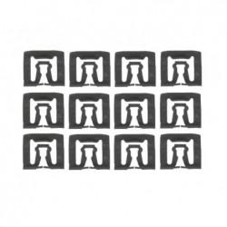 Kit de 12 agrafes de moulure de pare-brise et lunette arrière, Mustang 66 à 73