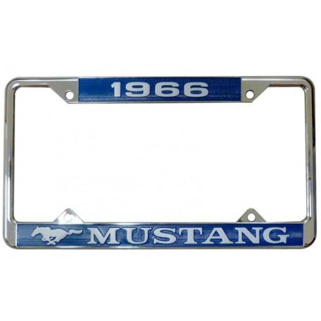 Encadrement de plaque d'immatriculation Mustang 1966