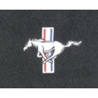 Ensemble de 4 tapis avec Pony brodé, Mustang 64 à 73