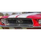 Moulure chromée de capot, Mustang 67 à 68