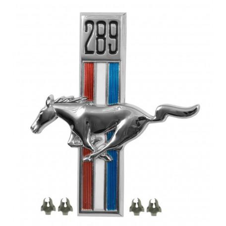 Emblème d'aile 289 côté conducteur, Mustang 67 à 68