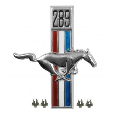 Emblème d'aile 289 côté passager, Mustang 67 à 68