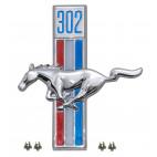 Emblème d'aile 302 côté conducteur, Mustang 67 à 68