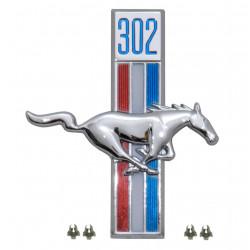 Emblème d'aile 302 côté passager, Mustang 67 à 68