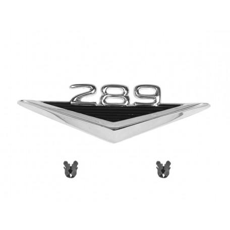 Emblème d'aile 289 + V, Mustang 64 à 66