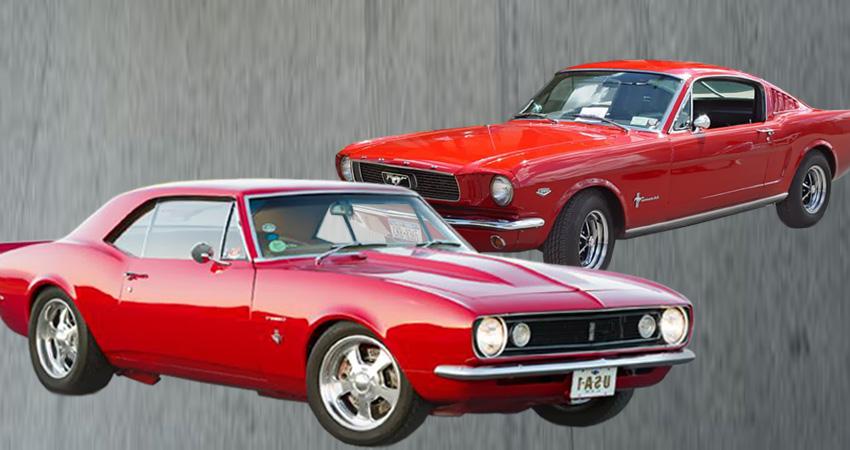 Chevrolet Camaro 1967 vs. Ford Mustang 1966